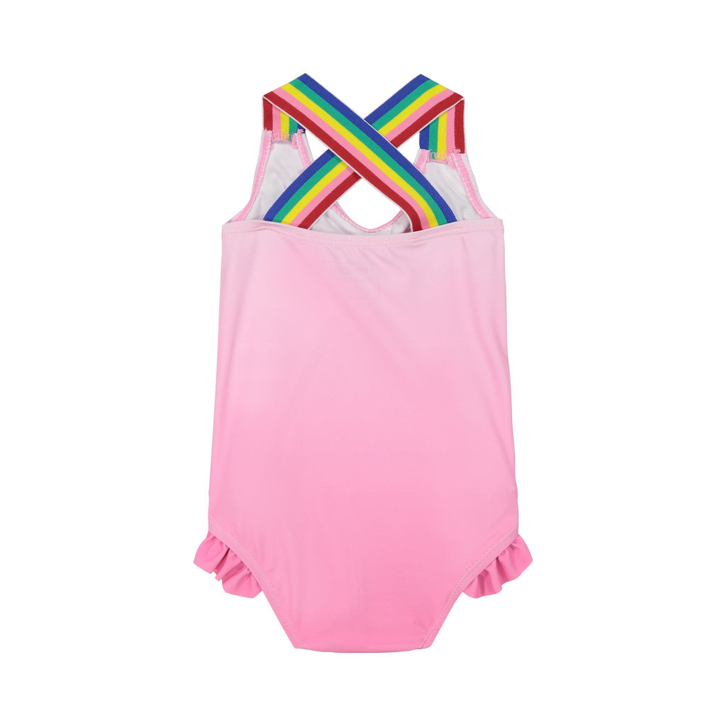 Infant Girl's Pink Criss Cross Swimsuit - Andy & Evan