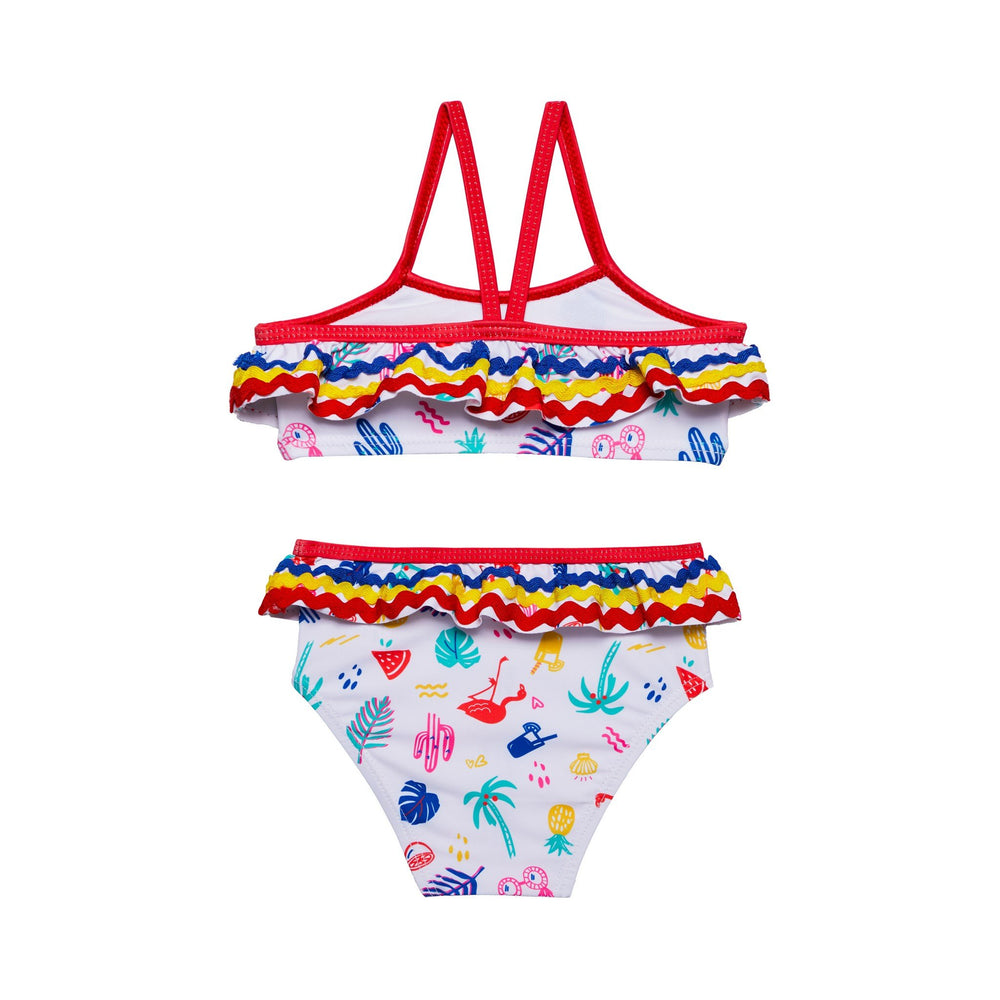 Infant Girls White Sunny Vibes Bikini - Andy & Evan