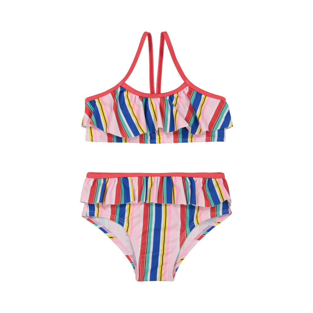 Girl's Multi-Colored Ruffle Bikini - Andy & Evan