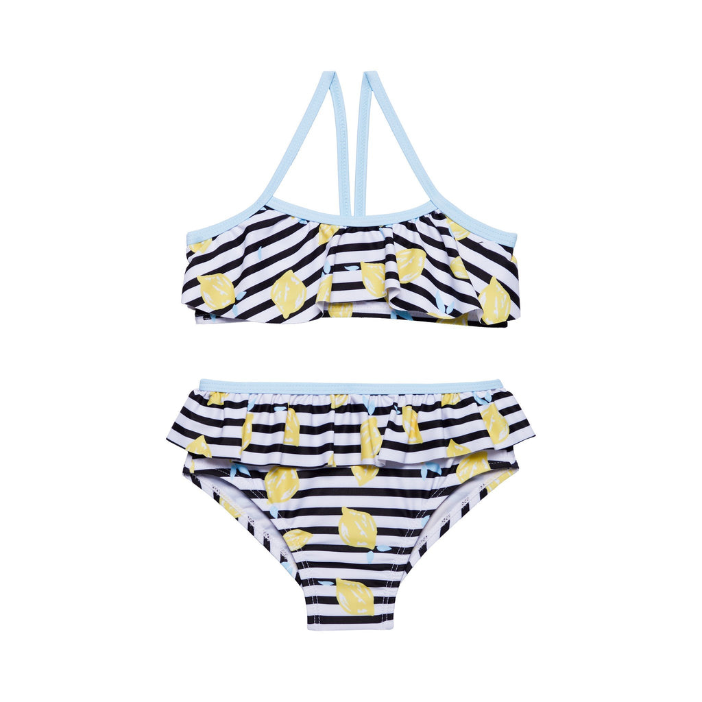 Girls Striped Lemon Bikini - Andy & Evan