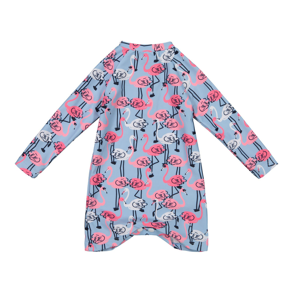Infant Girls Long Sleeve Flamingo Cover-Up - Andy & Evan