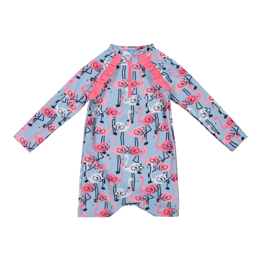 Infant Girl's Long Sleeve Flamingo Cover-Up - Andy & Evan
