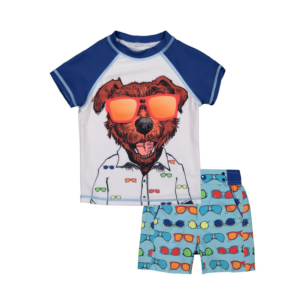 Infant Boy's   Cool Shades Rashaurd Set - Andy & Evan