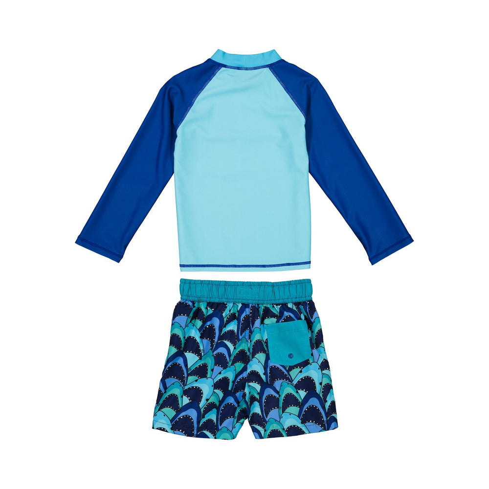 Boys  Shark Rashgaurd Set - Andy & Evan