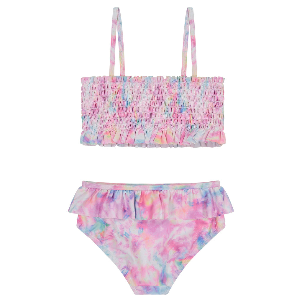 UPF 50 Girls (2-7 Years) Smocked Tie Dye Two-Piece Swimsuit - Andy & Evan