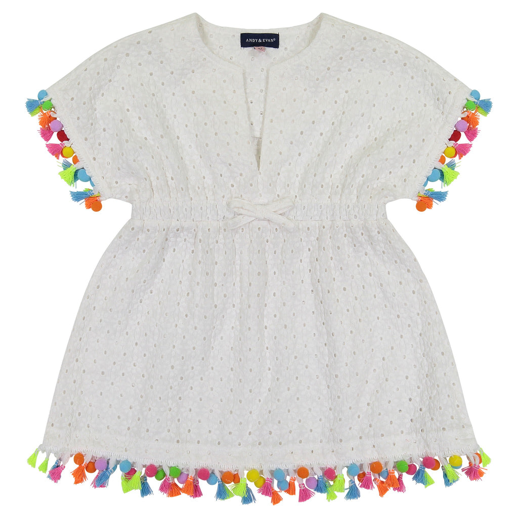 Girls Eyelet Swim Cover-Up (Sizes 8-14 and 2T) - Andy & Evan
