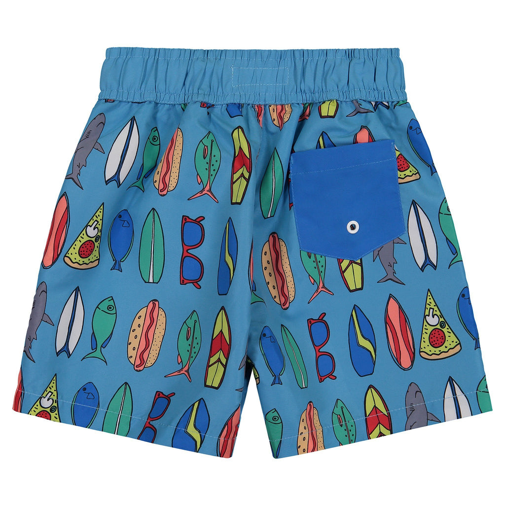 Father & Son | UPF 50 Surf Board Swim Trunks - Andy & Evan