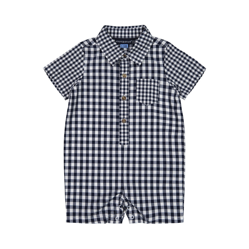 Baby Boys Gingham Shirtall - Andy & Evan