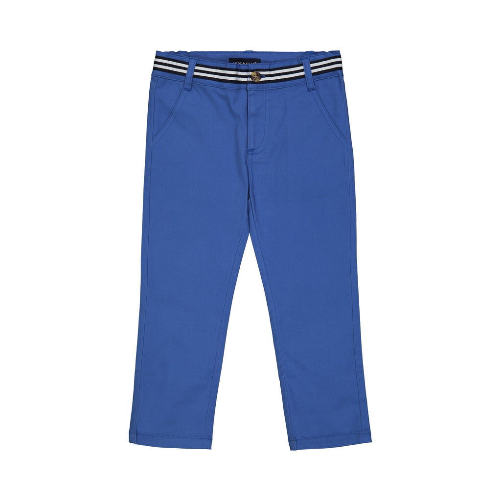 Boys Blue Twill Pants - Andy & Evan