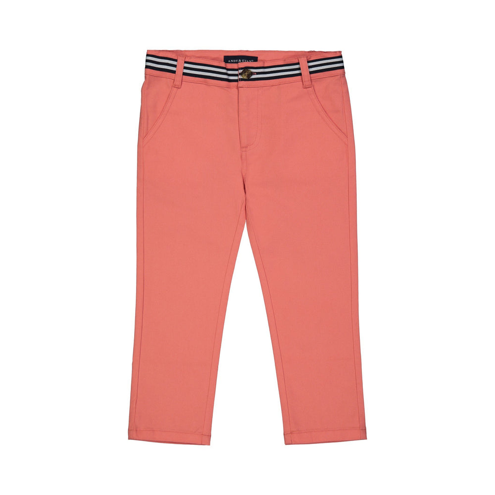 Boys Coral Twill Pants - Andy & Evan