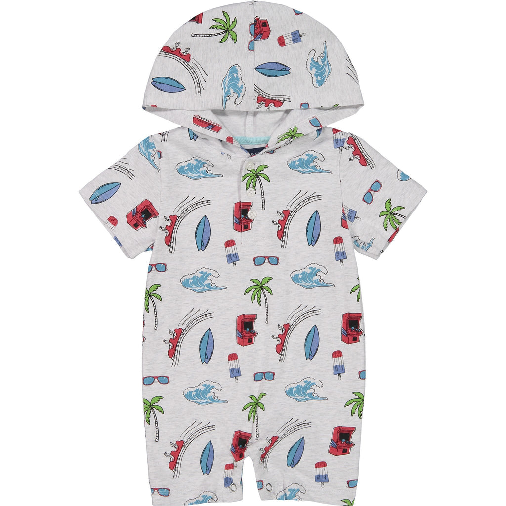 Baby Boys Boardwalk Adventure Romper - Andy & Evan