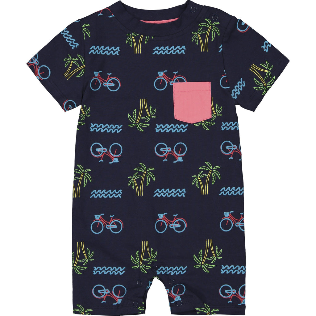 Baby Boys Neon Boardwalk Romper - Andy & Evan