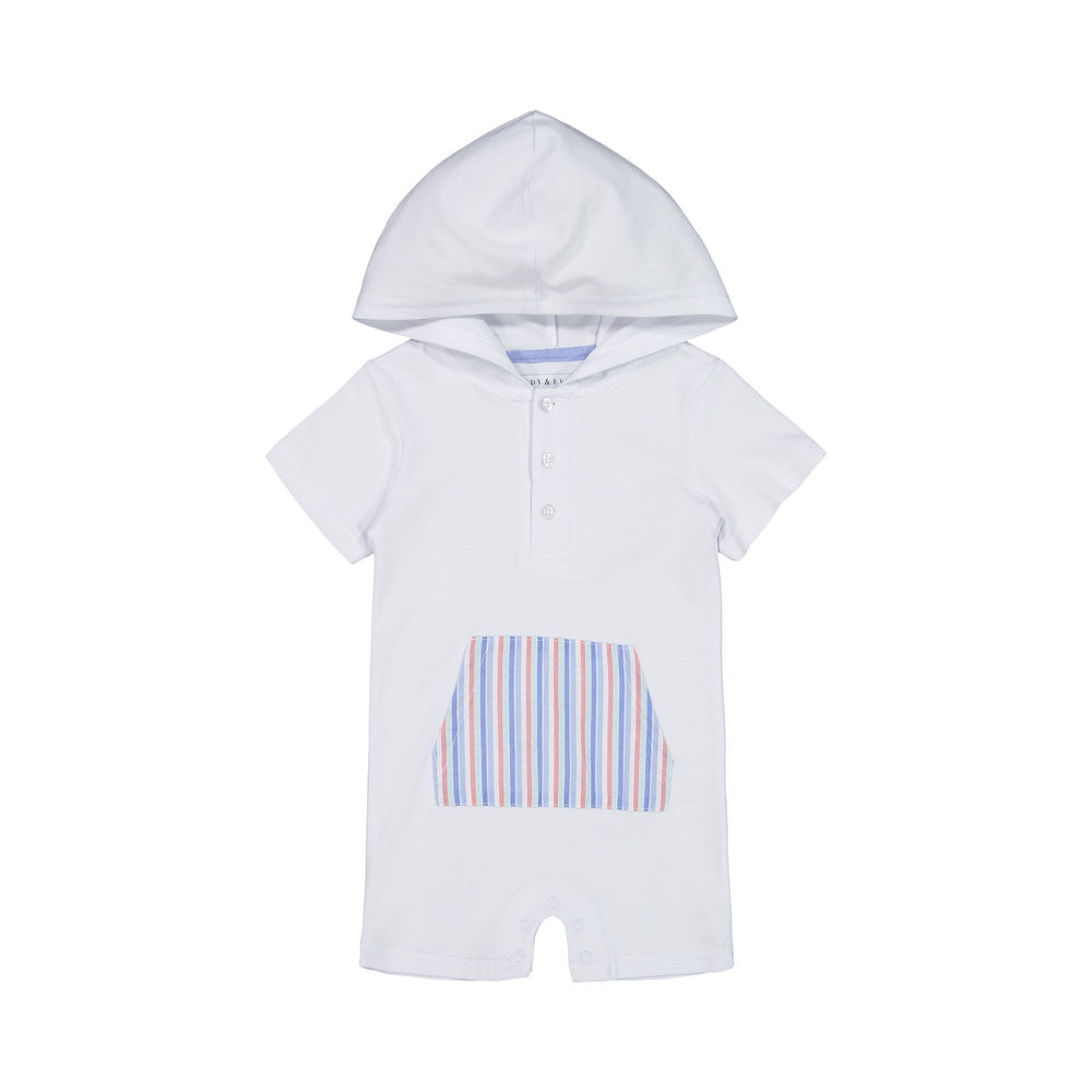 Baby Boys Seersucker Hooded Romper - Andy & Evan