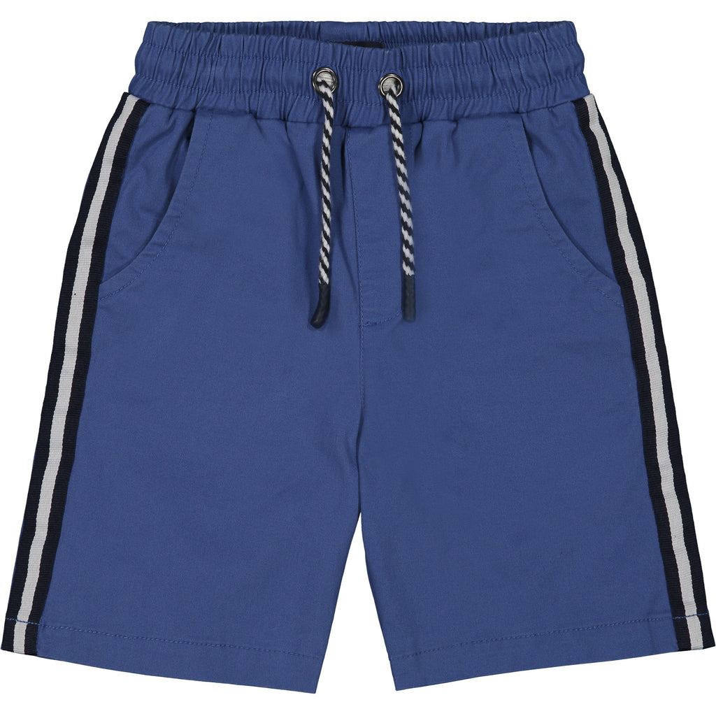 Boys Blue Twill Taped Short - Andy & Evan