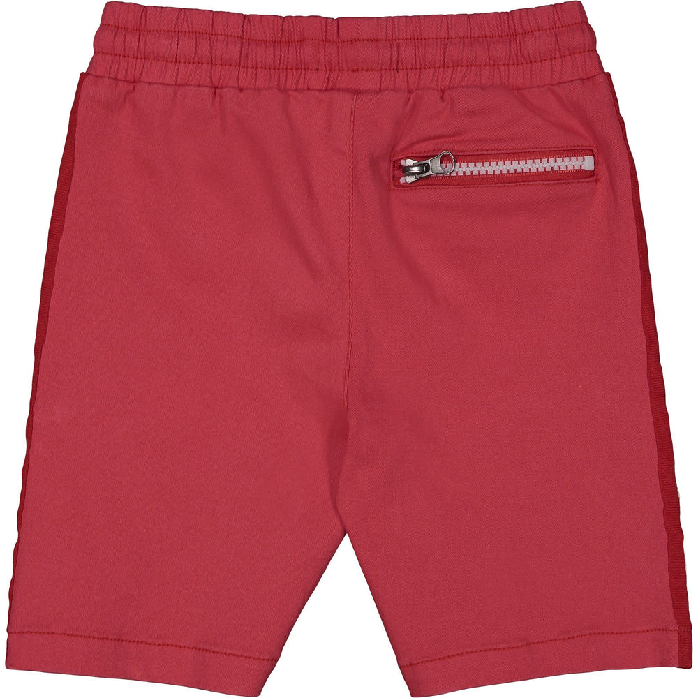 Boys Red Twill Taped Short - Andy & Evan