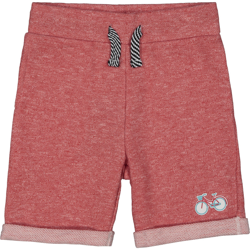 Boys Red Bicycle Patch Short - Andy & Evan