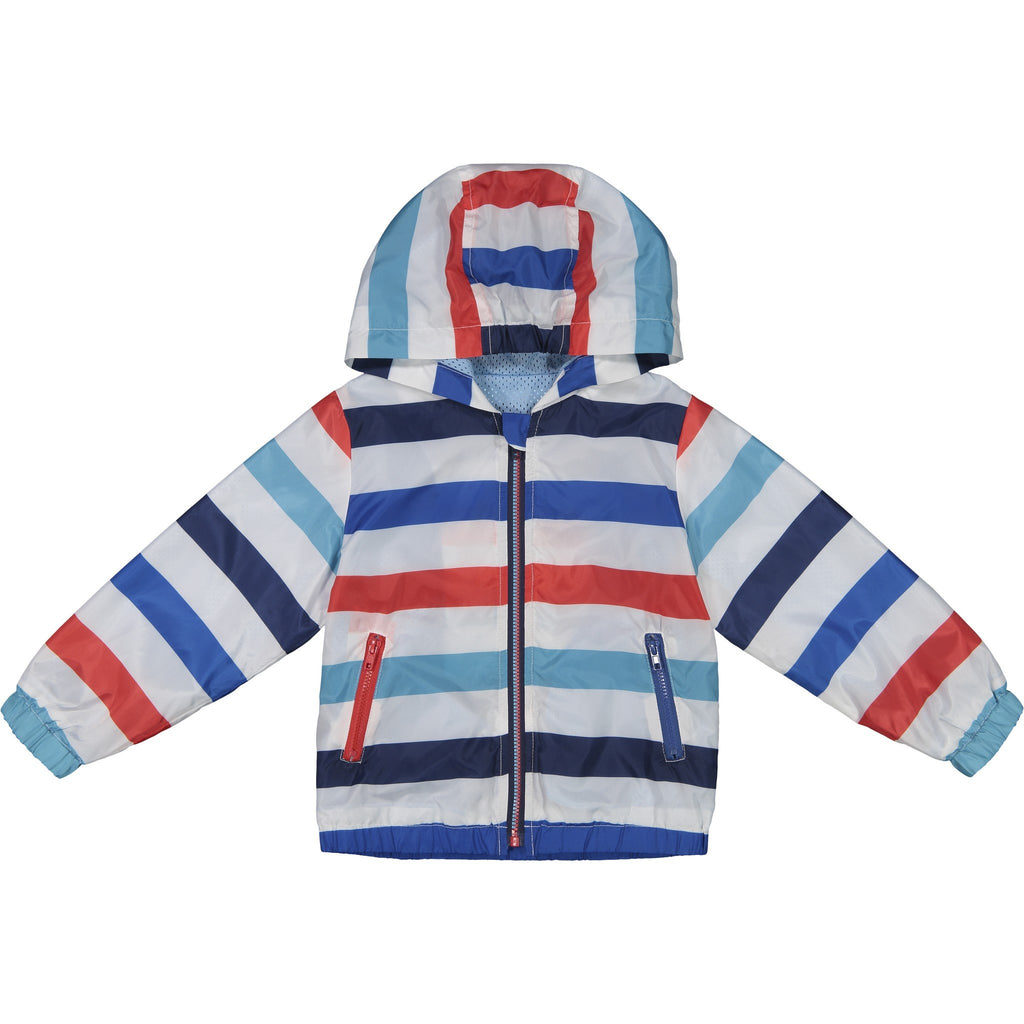Boys Striped Water Resistant Windbreaker - Andy & Evan