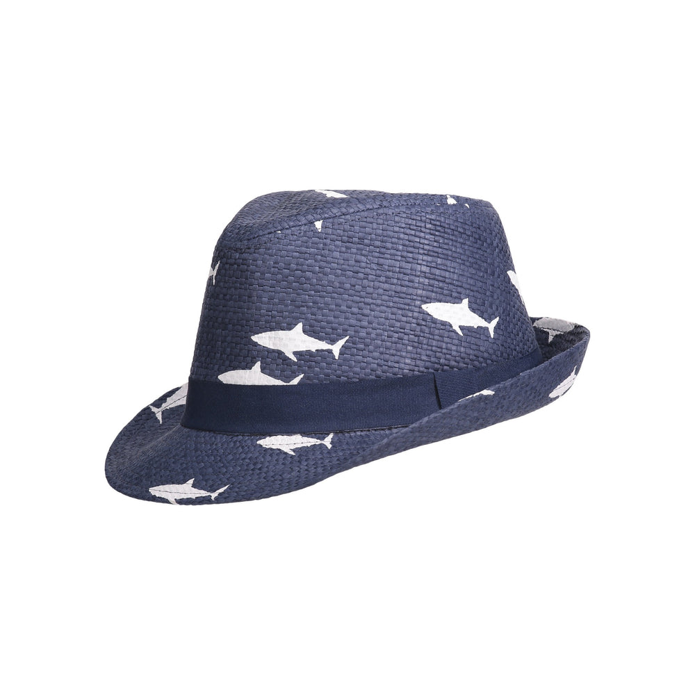 Navy Shark Fedora - Andy & Evan