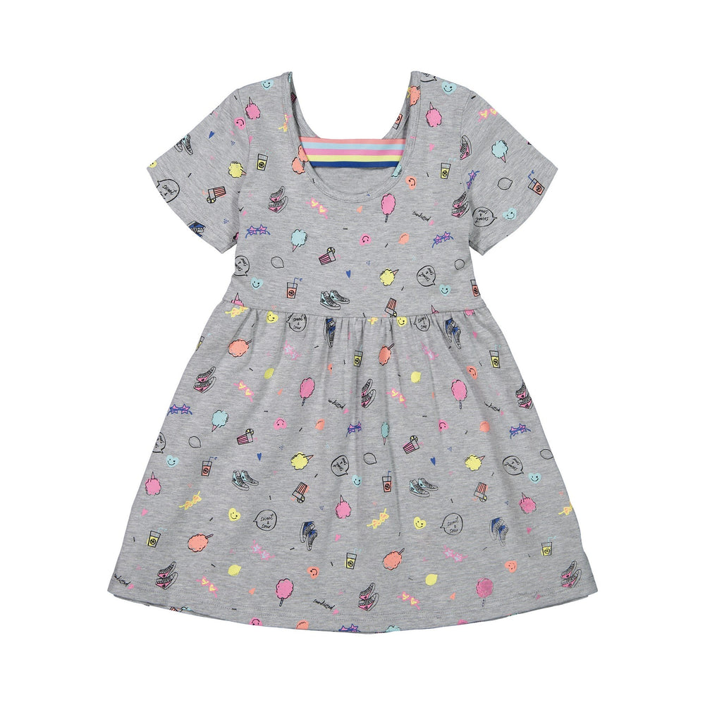 Girls Yummy Boardwalk Print Dress - Andy & Evan
