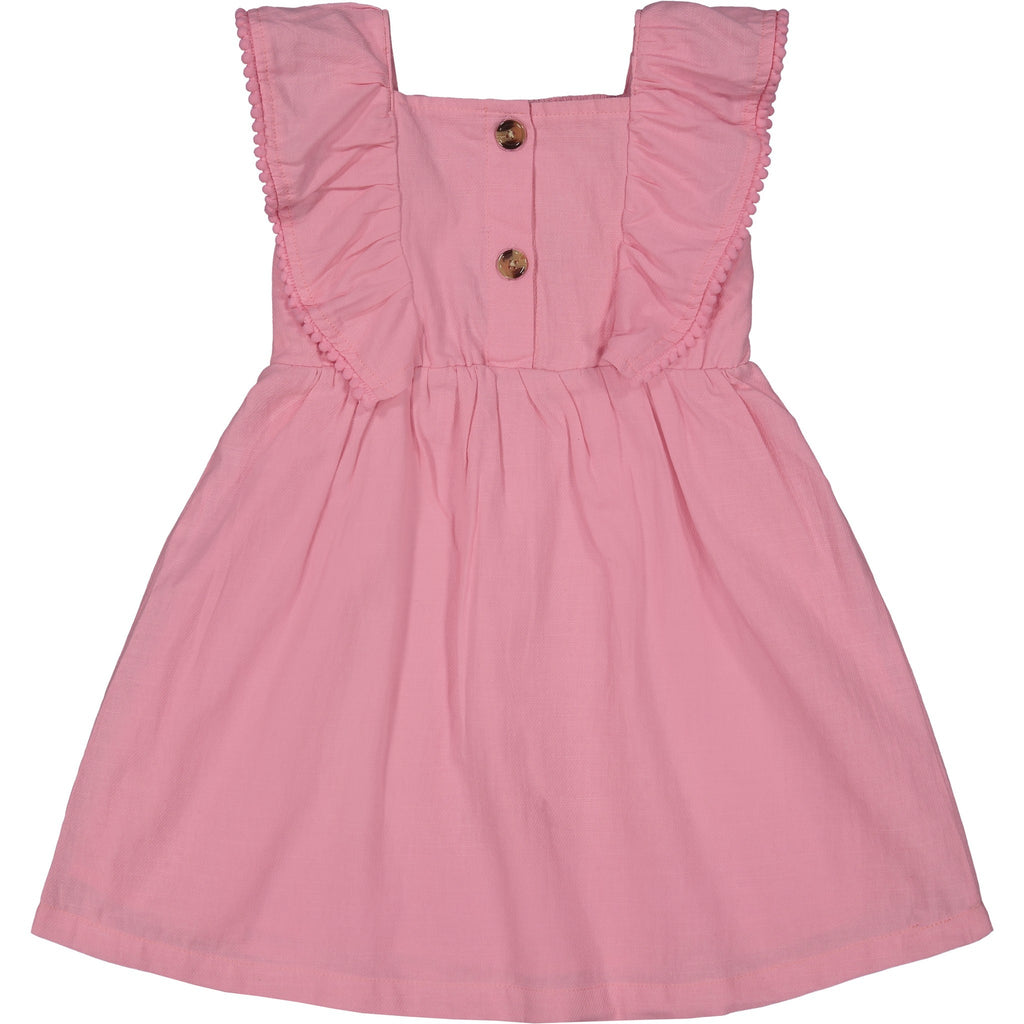 Girls Pink Flutter Dress - Andy & Evan