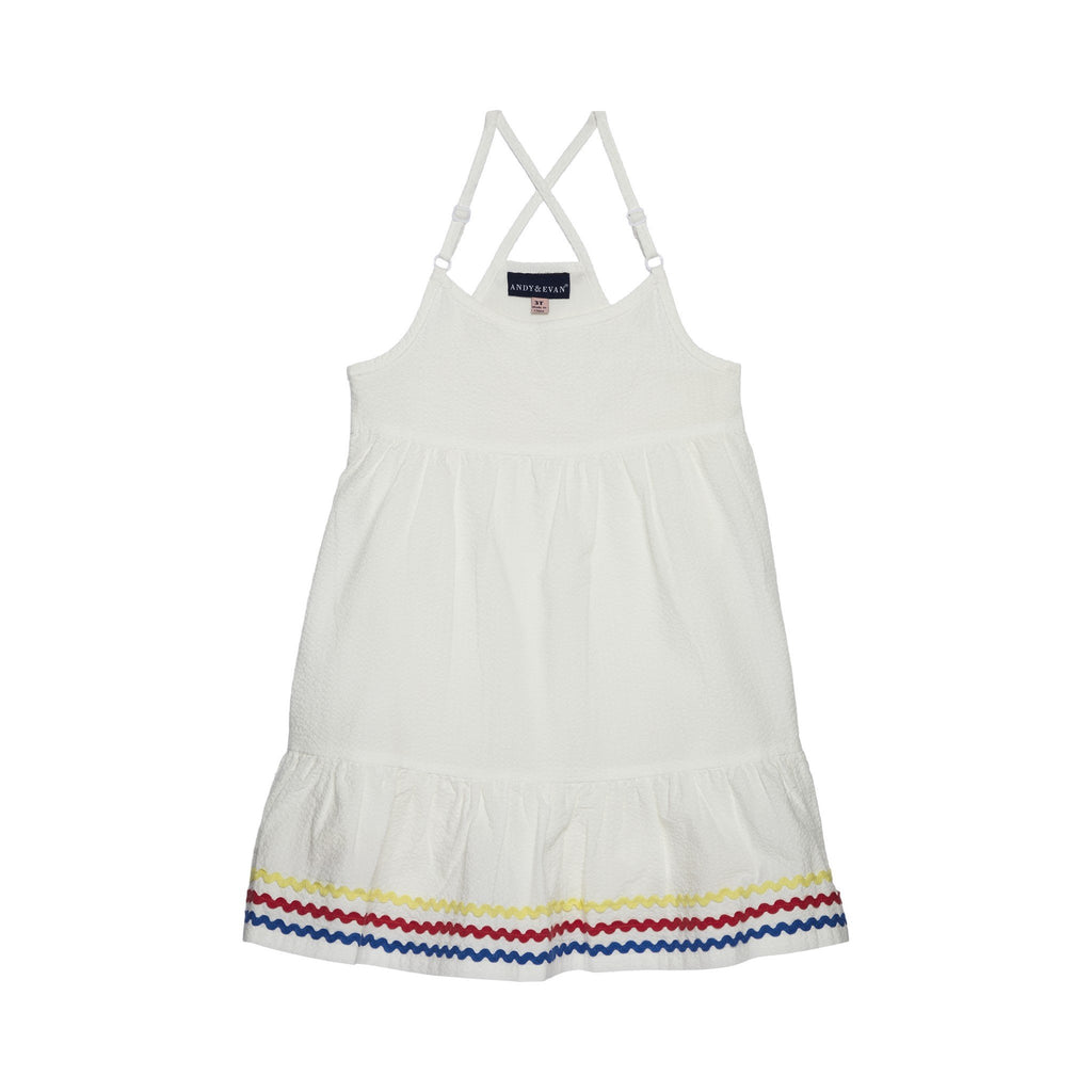Girl's Seersucker Flowy Dress - Andy & Evan