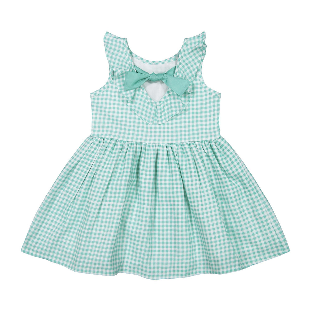 Baby Girl Green Gingham Dress - Andy & Evan