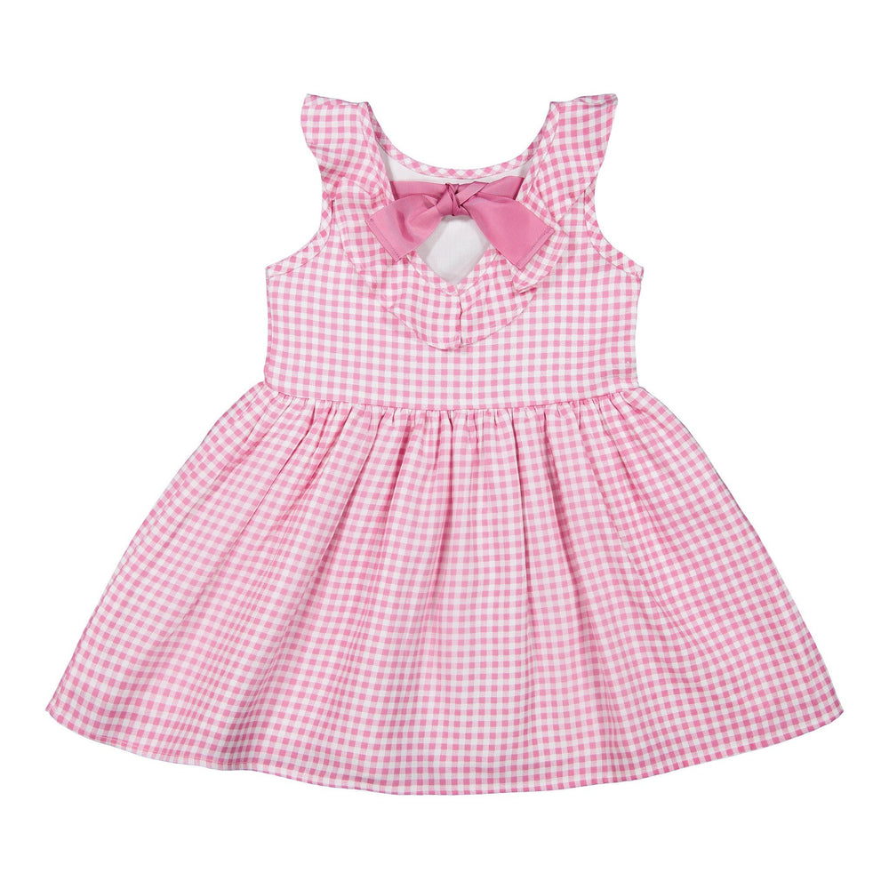 Girls Pink Gingham Dress - Andy & Evan