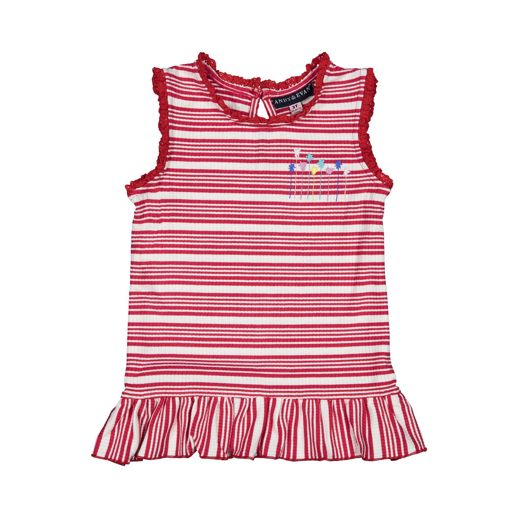 Girls Ribbed Tank Top - Andy & Evan