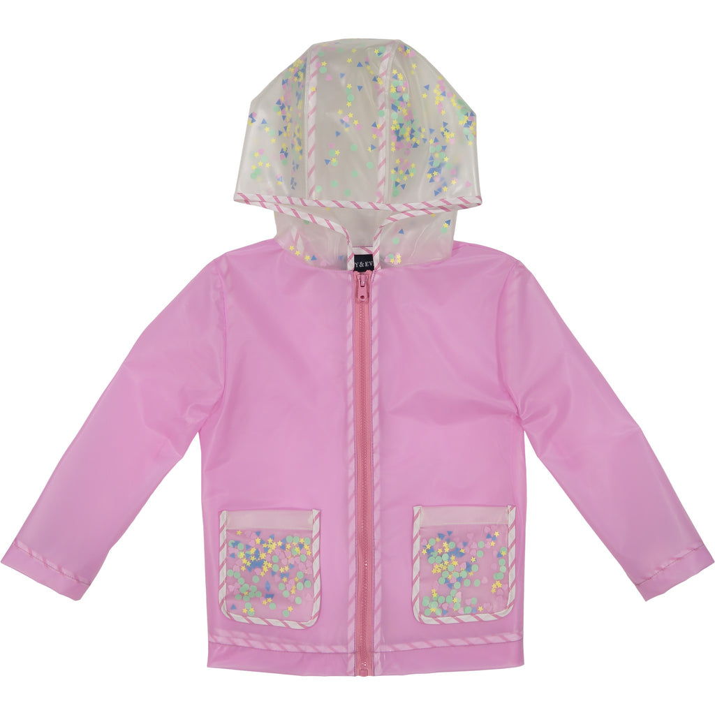 Girl's Sequin Infused Rain Jacket - Andy & Evan