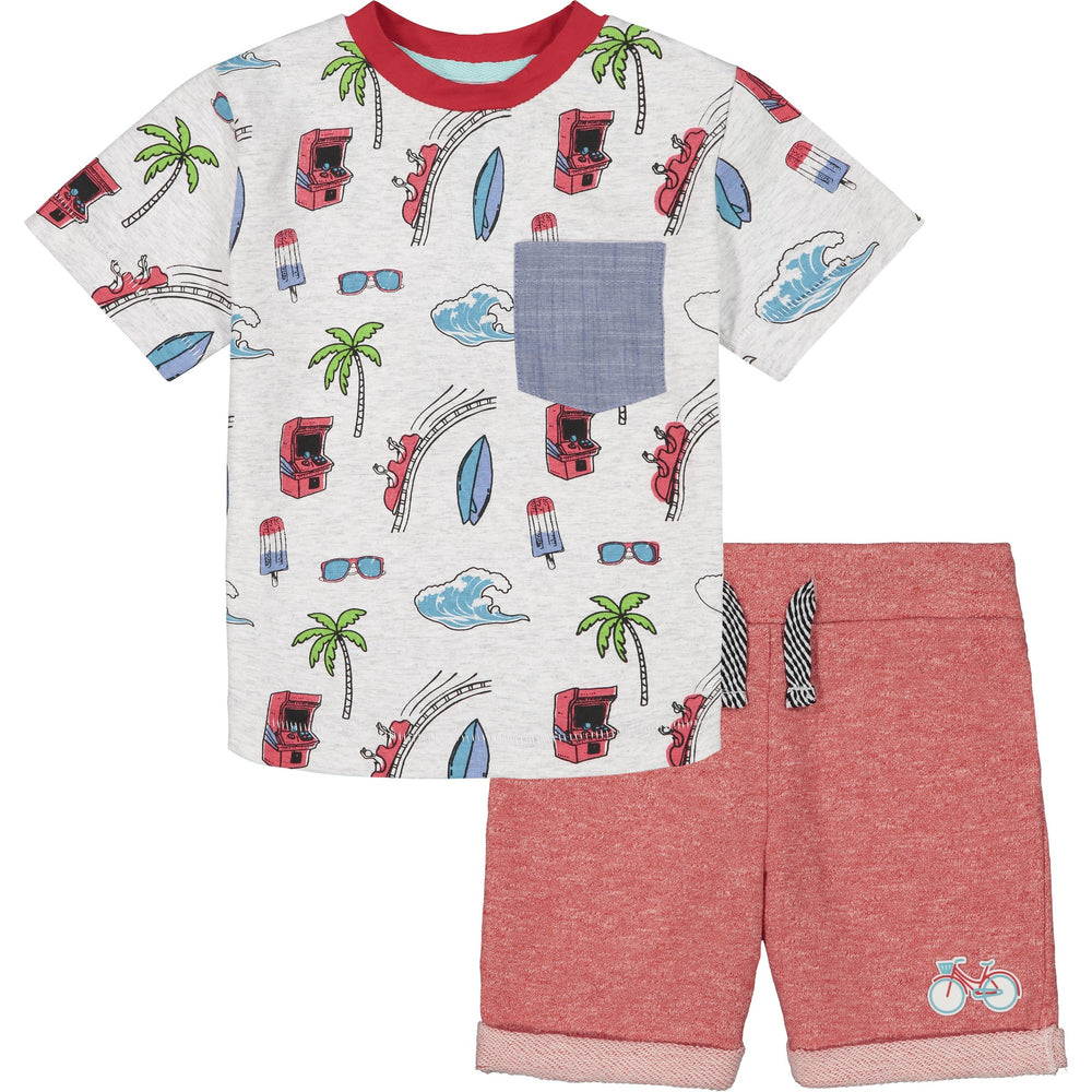Baby Boys Fun Print Graphic Tee Set - Andy & Evan