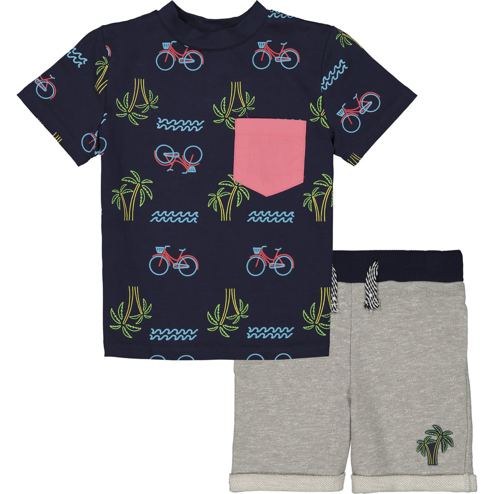 Baby Boys Bike & Palm Graphic Tee Set - Andy & Evan