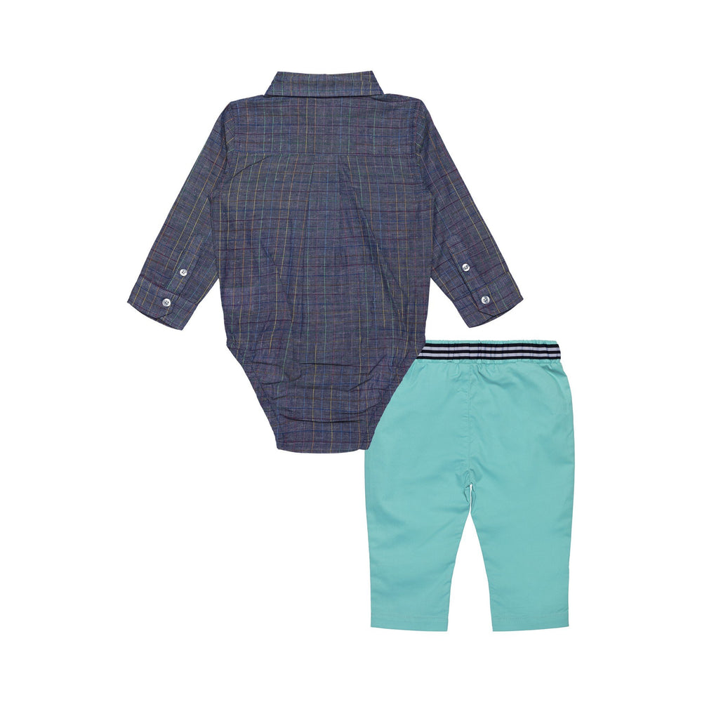 Baby Boys Check Button Down Shirt Set - Andy & Evan