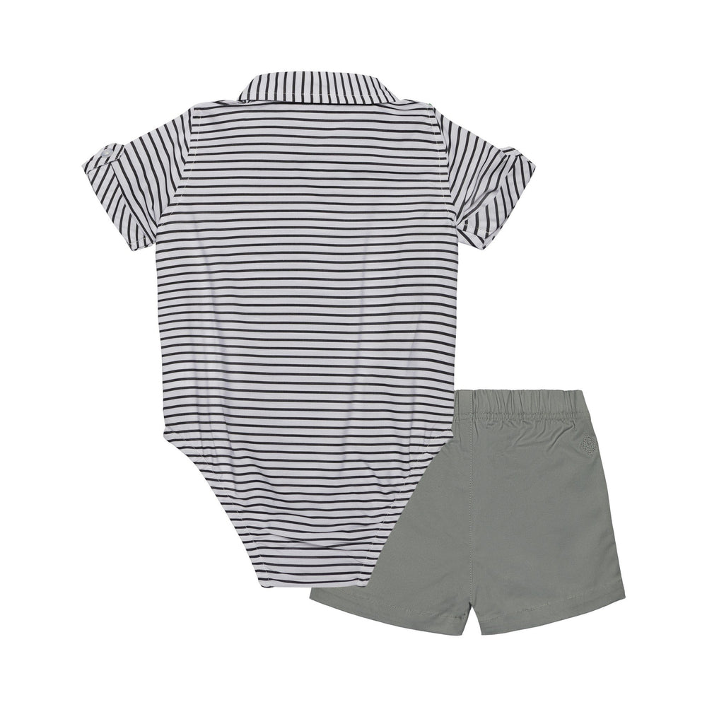 Baby Boys 3-Piece Balck Sriped Sunny Day Set - Andy & Evan
