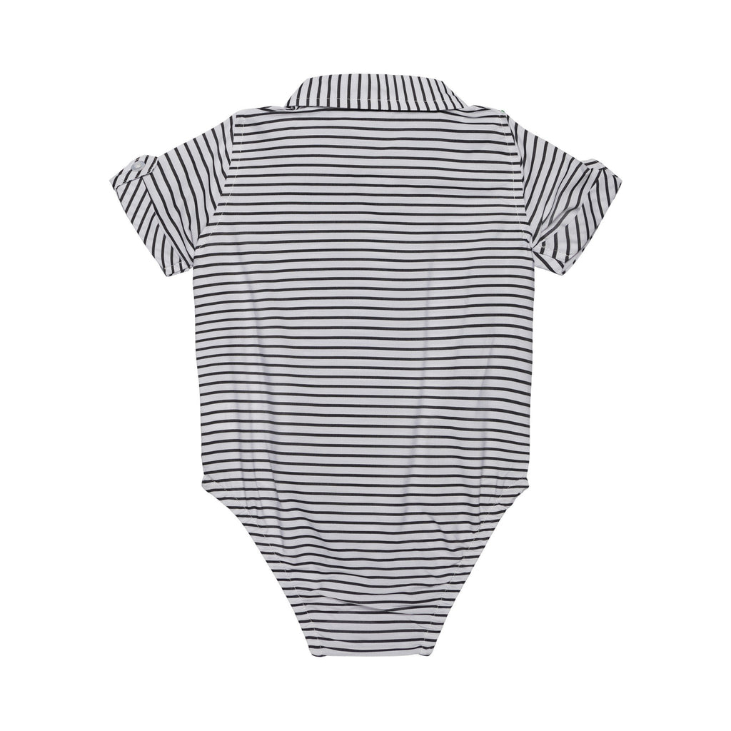 Baby Boys 3-Piece Black Sriped Sunny Day Set - Andy & Evan