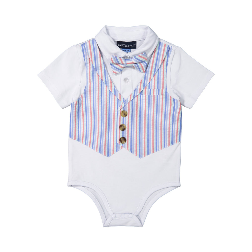 Baby Boys Multi-Seersucker Playsuit - Andy & Evan