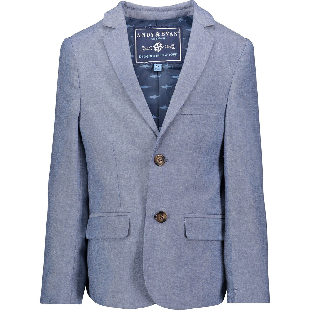 Boys Chambray Blazer - Andy & Evan