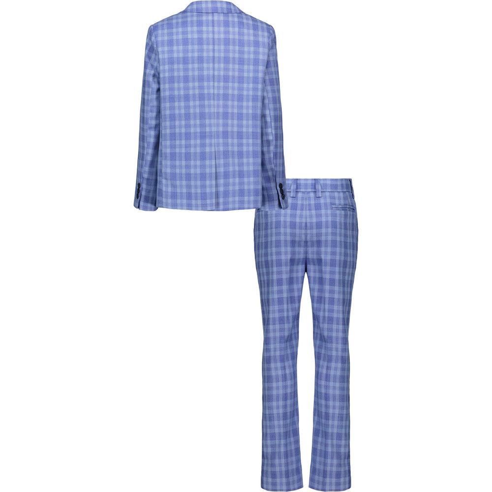 Boy's Blue Check Suit Set - Andy & Evan