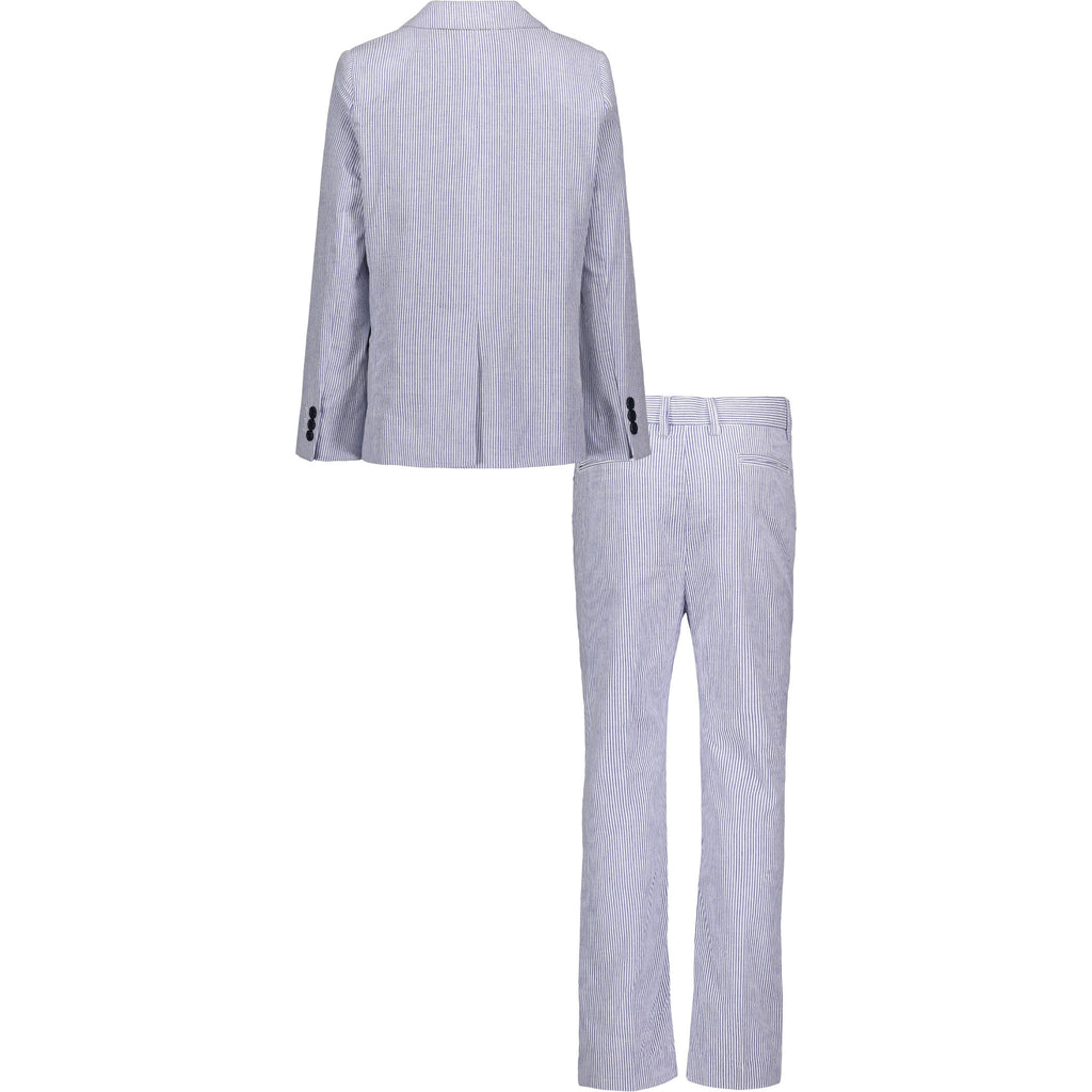 Boys Blue Seersucker Suit Set - Andy & Evan