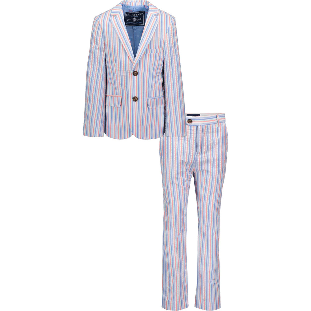 Boys Multi-Color Seersucker Suit Set - Andy & Evan