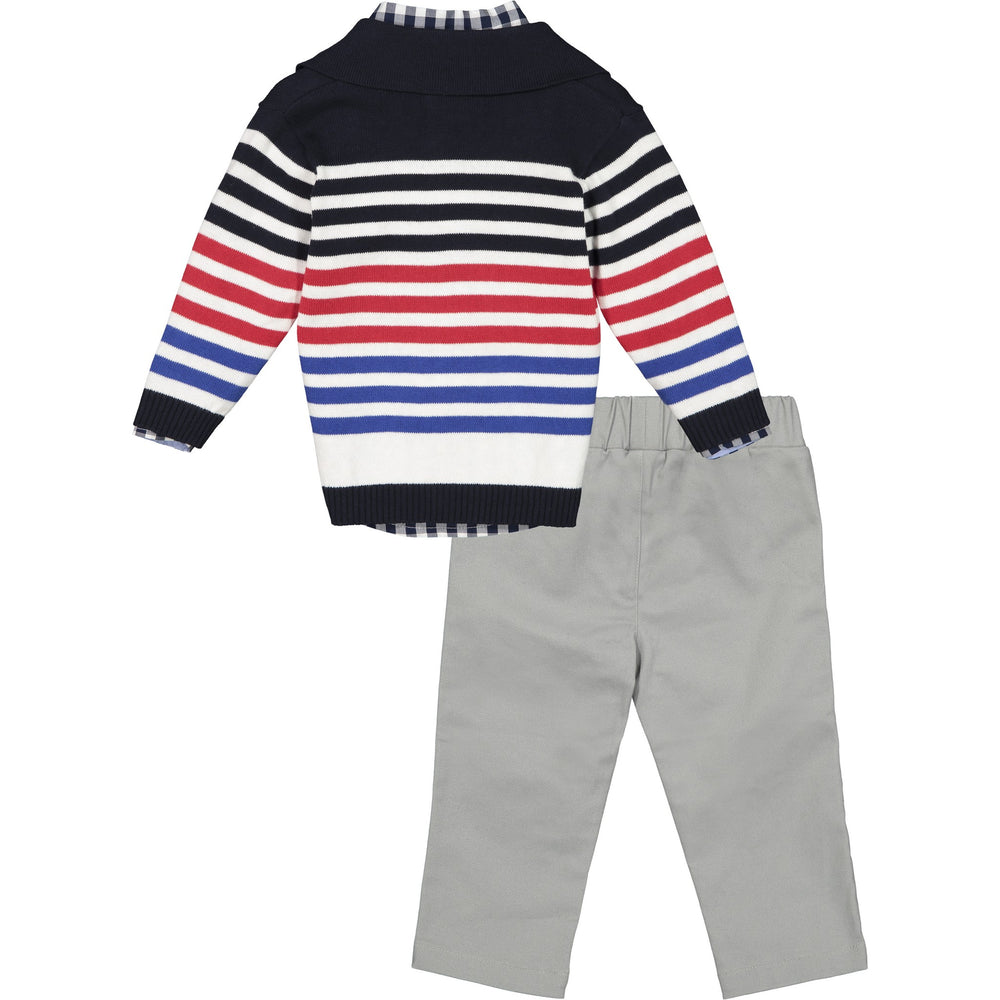 Baby Boys Toggle Cardigan Set - Andy & Evan