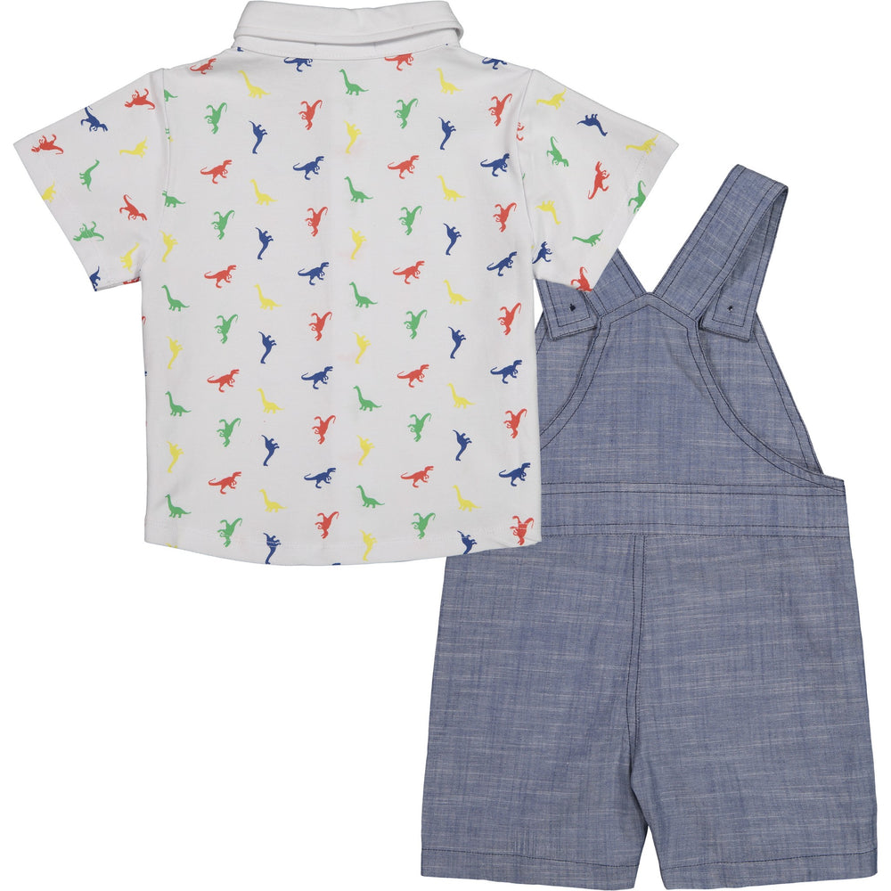 Baby Boys Dino Button Down Overall Set - Andy & Evan