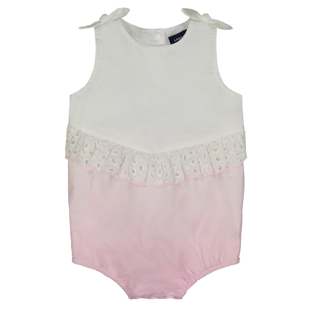 Baby Girls Poplin Ombre Bubble - Andy & Evan