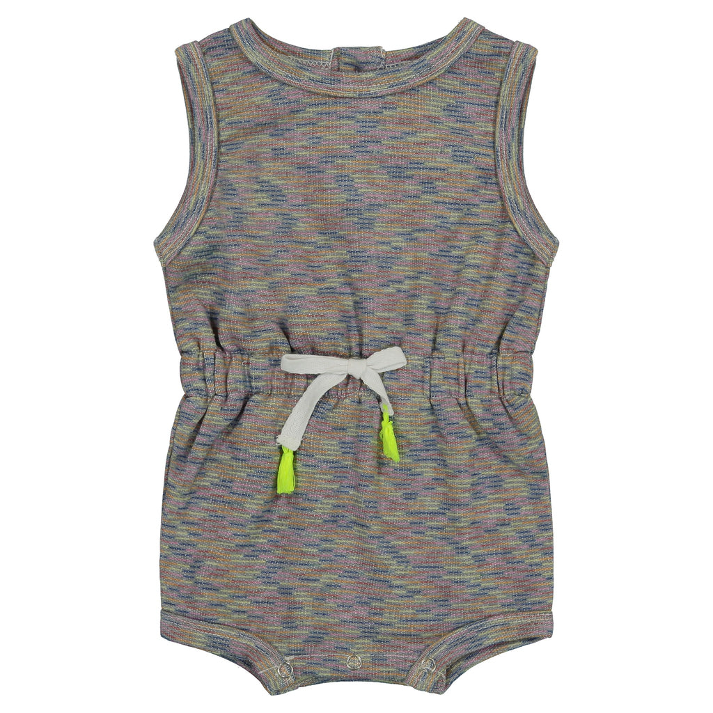 Baby Girls Grey Cinched Romper - Andy & Evan