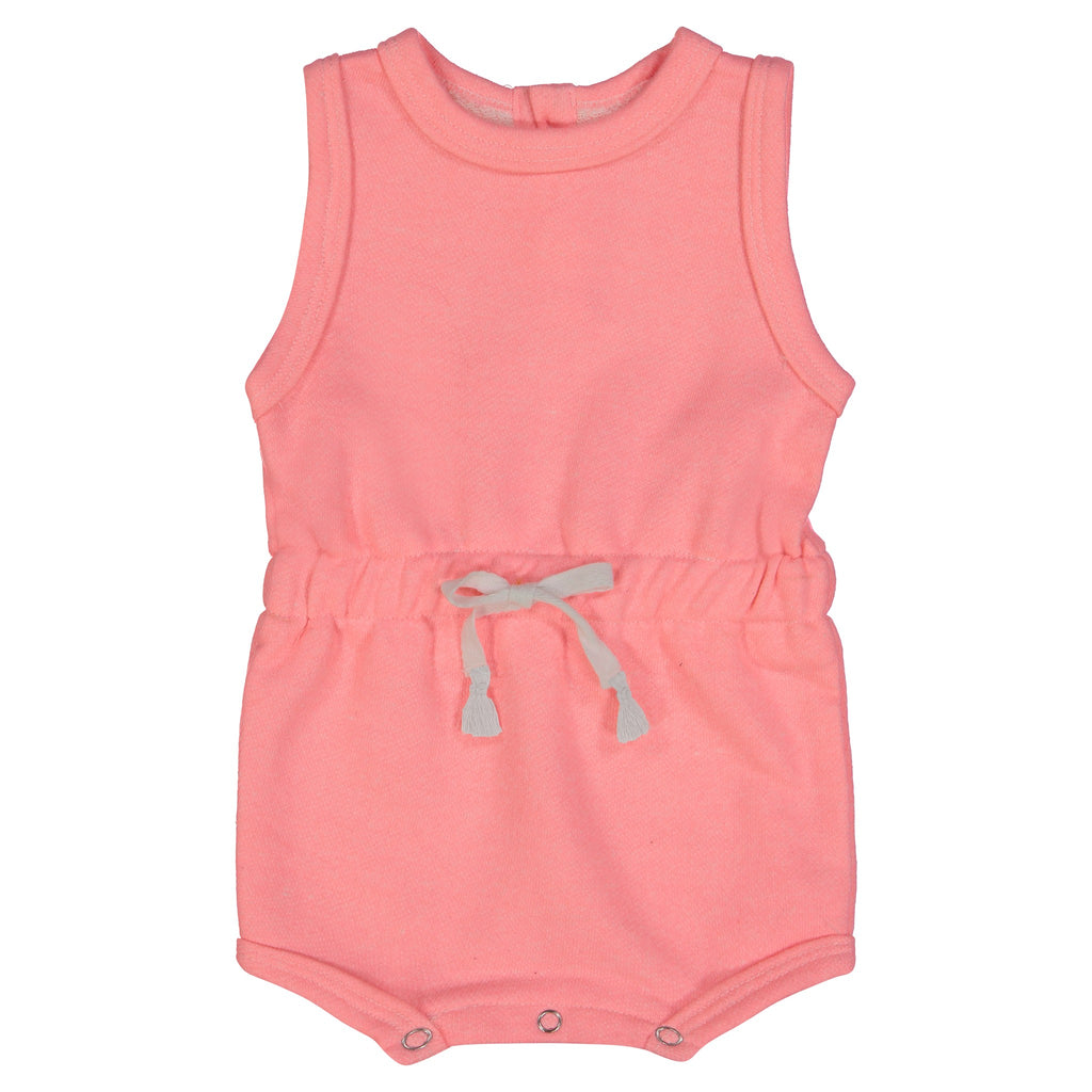 Baby Girls Pink Cinched Romper - Andy & Evan