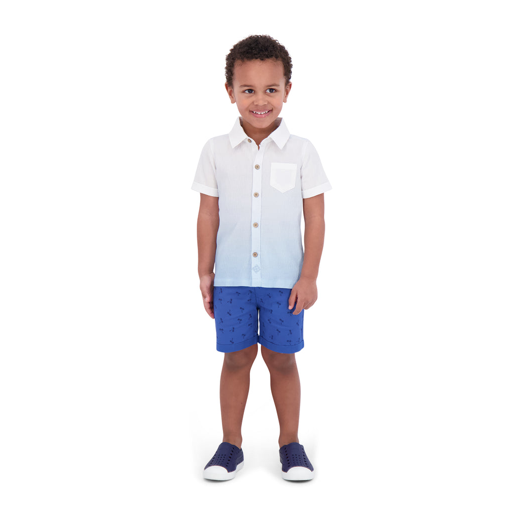 Infant Boys Ombre Button Down Shirt - Andy & Evan