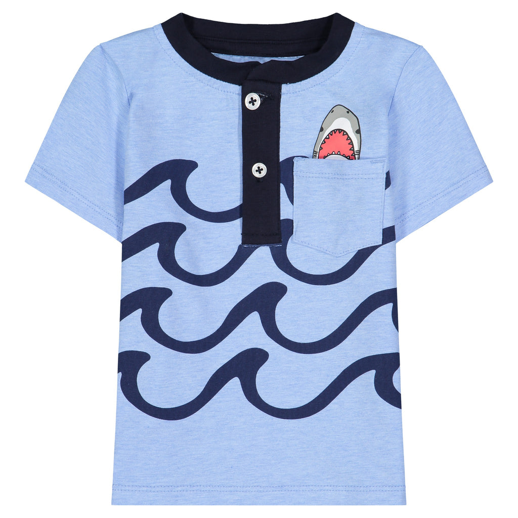 Infant Boys Graphic Henley Tee Set - Andy & Evan