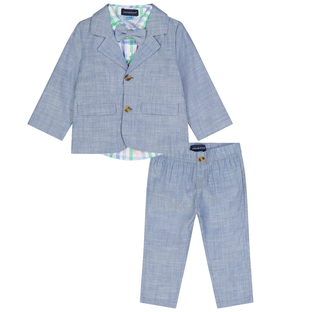 Infant Boys Chambray Suit Set - Andy & Evan