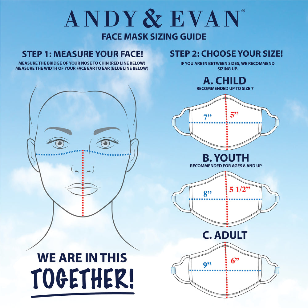 Girls Youth (8 & up) Face Masks (4-Pack) - Andy & Evan