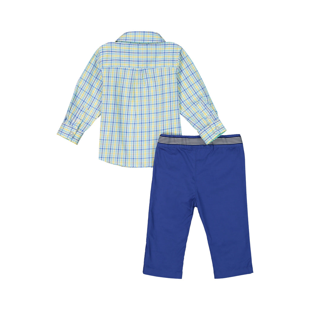 Two-Piece Check Shirt Set - Andy & Evan