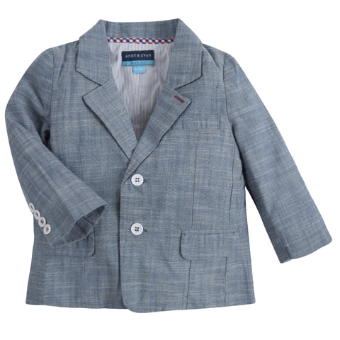 The Ronnie Reed: Blue Chambray 2pc Blazer and Pant Set